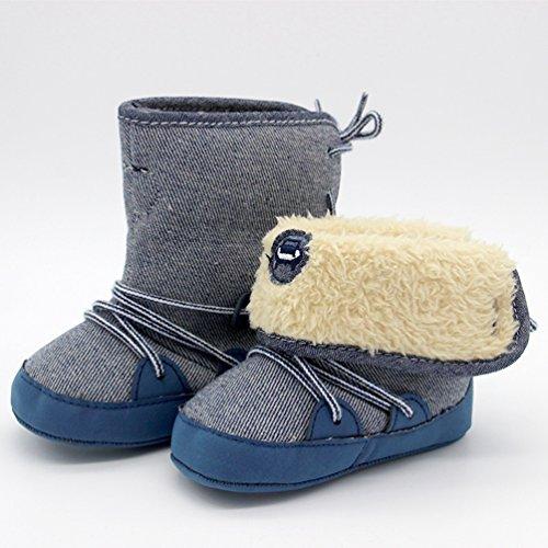 CHENGYANG Kleinkind Baby Mädchen Warm Niedlich Schneestiefel Weiche Sohlen Krippe Schuhe Stiefel Winterstiefel Marine#17