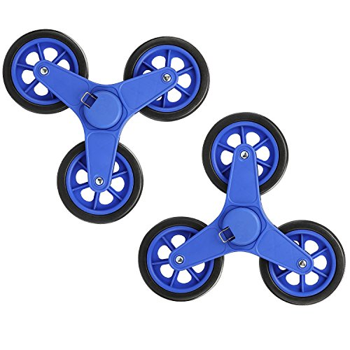 New Version Pair of Replacement Stair Climbing Shopping Cart Wheels for Shopping Cart