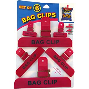 Economy Kitchen Accessory Bag Clips 6 Count