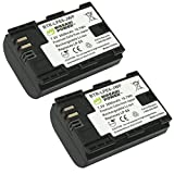 Wasabi Power LP-E6, LP-E6N (2 Batteries) Battery for Canon EOS 5D Mark II, Mark III, Mark IV, 5DS, 5DS R, 6D, 60D, 60Da, 6D Mark II, 7D, 7D Mark II, 70D, 80D, R, XC10, XC15