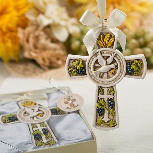 60 Holy Natures Harvest Themed Cross Ornament from Fashioncraft by Fashioncraft