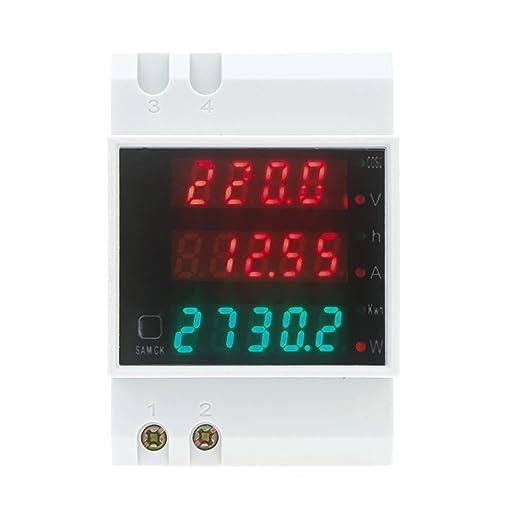 61 opinioni per KKmoon AC80-300V 100A multifunzionale digitale Din Ammeter Tensione Potenza