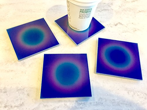 Color Coaster (Temperature Sensitive Color Changing Glass Coasters (set of 4))