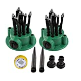 LLAMEVOL Lawn Sprinkler System 360 Direction Adjustable Nozzle Noodles Head Outdoor Sprinklers Parts 12 Hose Spray Watering for Yard Ground Flower bed Garden Plants Grass Irrigation Kit 2 Pack by