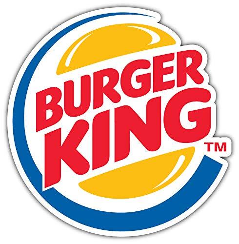 Burger King Original Logo Sticker Car Bumper Decal 5'' X 5'' ()