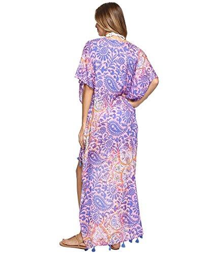 Bindya Des Femmes De Paisley Robe Haut-bas Violet