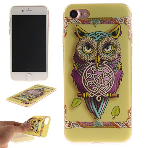 BONROY ® Silikon Handy hülle für iPhone 7 TPU Gummi Taschen Weich Soft Back cover,Ultra Slim Skin TPU Fall-Abdeckung Protective Bumper für iPhone 7