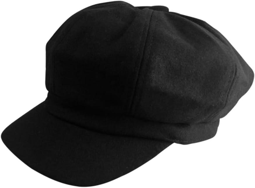 wimagic 1/x sombrero de lana de las mujeres boina d/écontract/é sombrero de pintor caliente en plein air sombrero Retro Sombreros de visera anti-soleil gorra oto/ño y invierno lana 56-58 cm gris