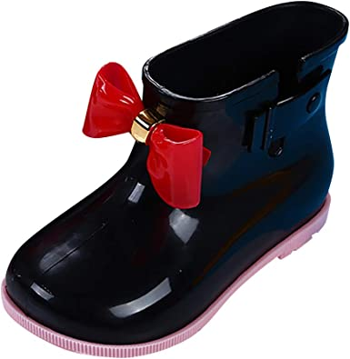 Toddler Boys Girls Fall Winter Rain Boots Rain Shoes for 1-10 Years Old Children Waterproof Non-Slip Galoshes