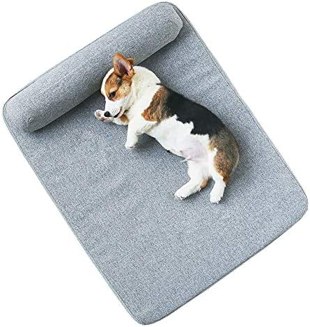 小型および中型のペット用ベッド犬用ベッド取り外し可能および洗える猫用ベッド、ペット用睡眠パッドソファペット用品猫用マット(M、L) (Size : M)