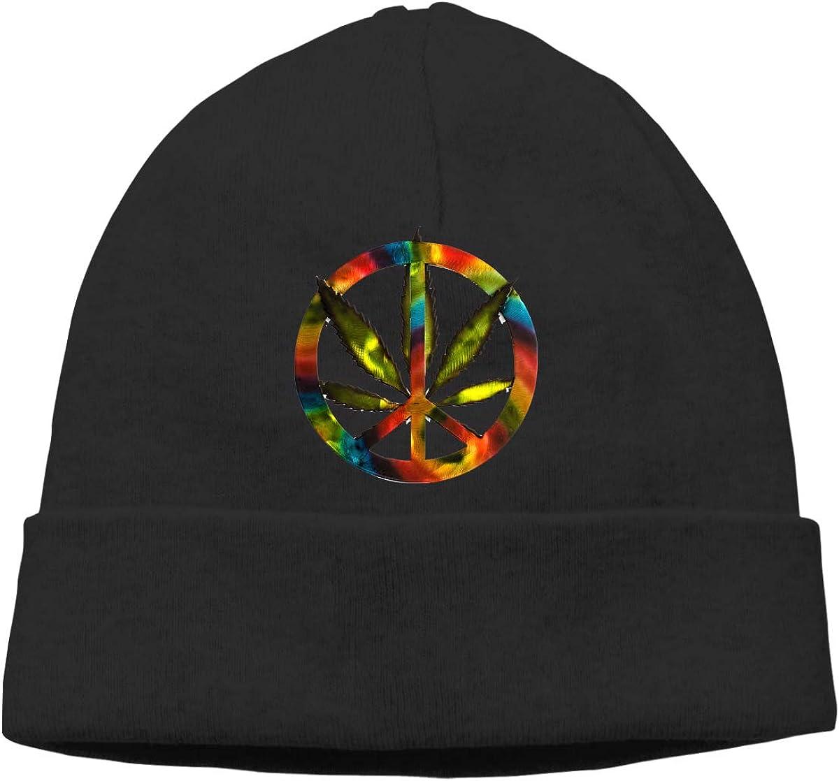 Mens and Womens Skullies Beanies Weed Leaf Tie Dye Vintage Toboggan Hat Sports /& Outdoors Knit Hat Black