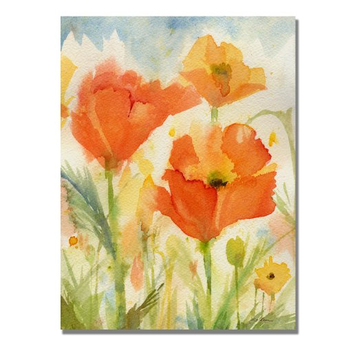 - Field of Poppies by Sheila Golden, 24x32 inches Canvas Wall Art