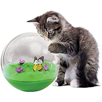 Petmate jackson galaxy butterfly in a ball for Jackson galaxy cat toys