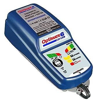 TecMate TM-194 Optimate 6 Cargador de Baterías 12V-24V, Azul ...