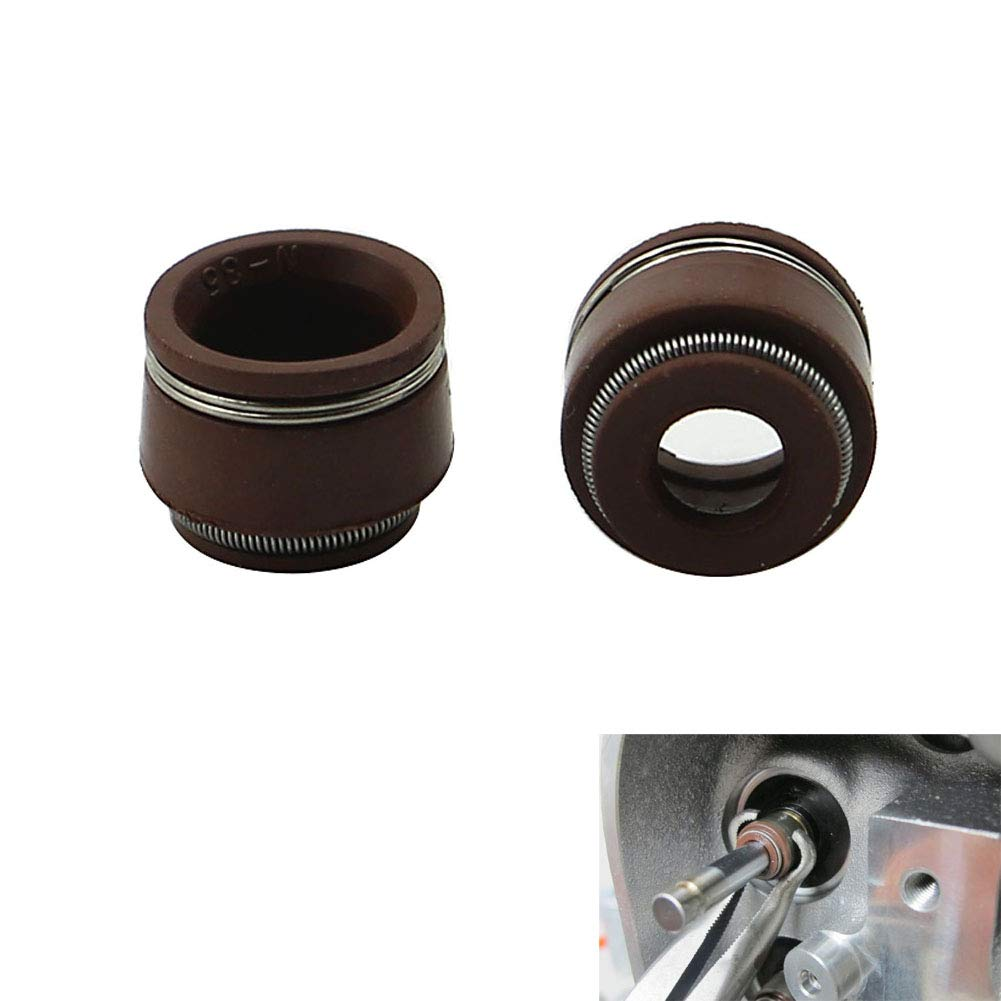 Motoparty CT70 CT90 Intake//Exhaust Valve Stem Seals For Honda CT70 CT70H CT90 ST90 Trail 70 90 CT ST 5.0mm Stem Horizontal Engines 1969-1994 2PCS