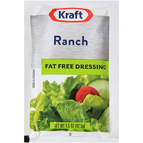 Kraft Ranch Salad Dressing Fat Free (1.5 oz Packets, Pack of 60)