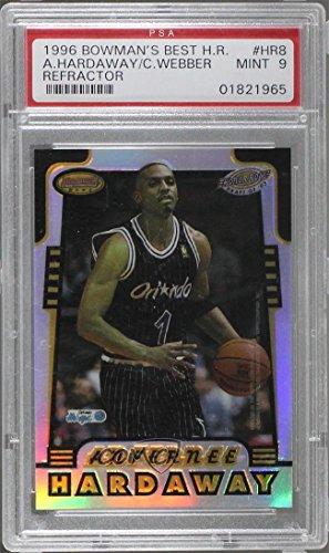 - Anfernee Hardaway; Chris Webber Graded PSA 9 MINT (Basketball Card) 1996-97 Bowman's Best - Honor Roll - Refractor #HR8