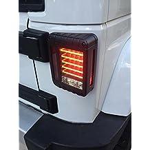 autvivid LED Taillight Rear Back Bumper Light Parking Back up Reverse Brake Lamp for 2007~2016 Jeep Wrangler JK