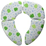 Mommy's Helper Froggie Cushie Traveler Folding Padded Potty Seat, White, Green, 1-Pack