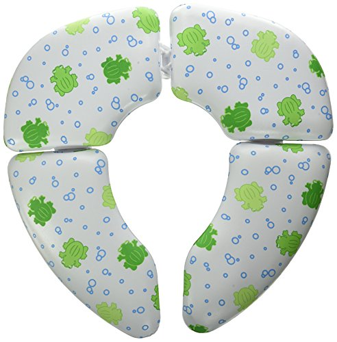 Mommys Helper Cushie Traveler Folding Padded Potty Seat with Carry Bag, White with Frog Design