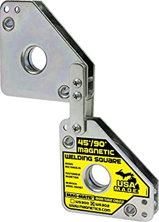 MAG-MATE WS302 Adjustable Magnetic Welding Square with 110 lb Capacity