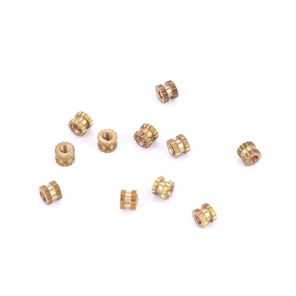M2*2 * 3.5(100pcs) M2 /Écrou Molet/é Insert Filet/é Cylindrique /Écrou Filetage Femelle en Laiton /Écrou Incorpor/é /Écrou Insert Molet/é /Écrou Inclus Embouti Moul/é