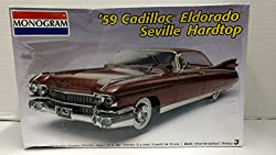 Monogram 7808 1959 Cadillac Eldorado Seville Hardtop 1:25 Scale Plastic Model Kit - Requires Assembly by Na