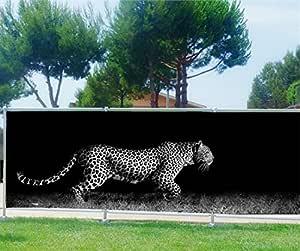 StickersNews Ocultación (Imprimé, jardín, terraza, balcón Déco Guepardo, plástico Tela, 100%, 200 x 78 cm: Amazon.es: Hogar