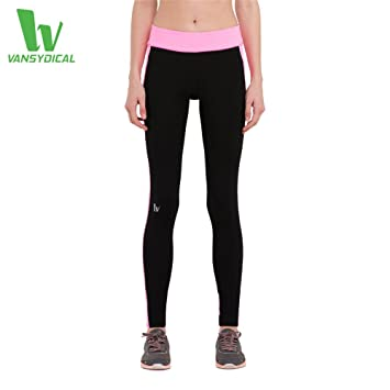 004fade857415 Vansydical Women's Compression Running Pants Tights Jogging Leggings  Fitness Workout Yoga Sportswear Quick Dry Women Capris