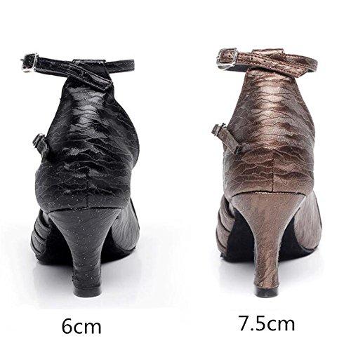 Sandali ballo Donne 7 Taogo 5cm Scarpe black heel nbsp;Pompe 35To41 Taglia latino da Danza CTSS0wxUq