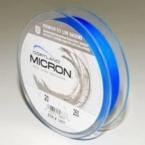 Cortland Fly Line Backing, Micron, 20 lb Test, Blue – 100, 150, 200, 250, 300, 400, 600 up to 2,500 yd