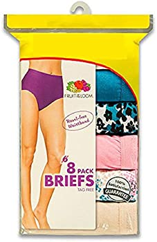8-Pk. Fruit of the Loom Ladies Cotton Briefs