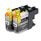2 Pack - Toners & More ® Compatible Inkjet Cartridge Set for Brother LC-203 LC-203XL LC-201, LC-203BK Black, Compatible with Brother MFC-J4320DW MFC-J4420DW MFC-J4620DW MFC-J5520DW MFC-J5620DW MFC-J5720DW