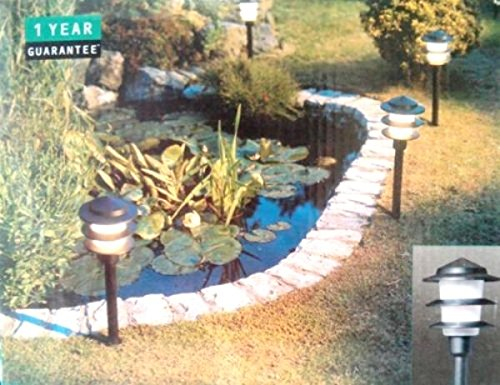Wickes pagoda 6 light set garden lighting low energy saving 8w driveway path lights with photocell