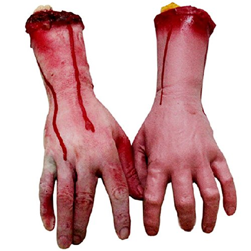 WishMe Real Tricky Toy Horror Blood Broken Hand Halloween Decoration Props
