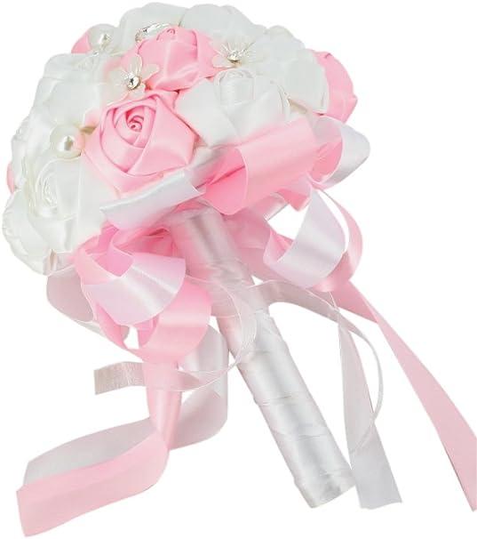 Bouquet Sposa Unica Rosa.Bouquet Da Sposa Tessuto A Sfera E Di Tendenza Rosa Taglia Unica