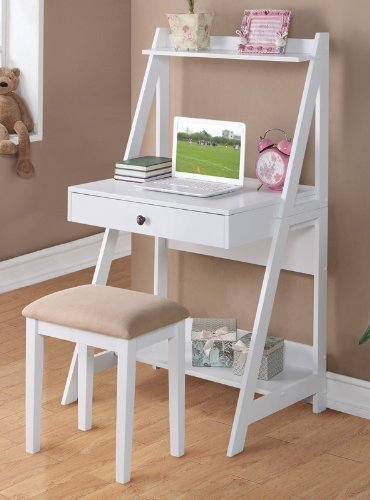 Writing Stool White Finish Poundex product image