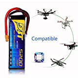 Drone Battery LiPo Battery for HM Remote Control Aircraft/Airplane RC Car Truck 5200mAh/11.1v/25C3S Universal Plug