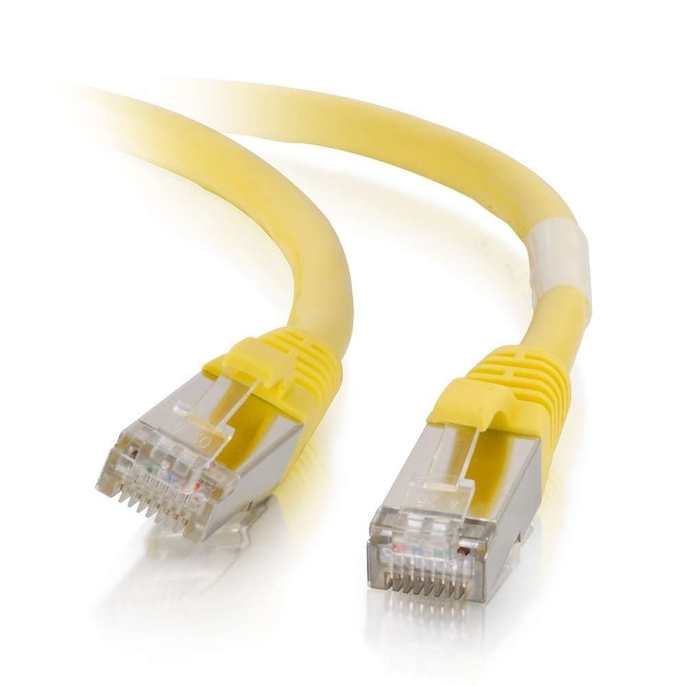 C2g Cables To Go 00859 Cat6 Snagless Shielded Stp Cat5e Red Ethernet Patch Cable Molded Boot 7 Foot Network Yellow 1 030 Meters Computers Accessories