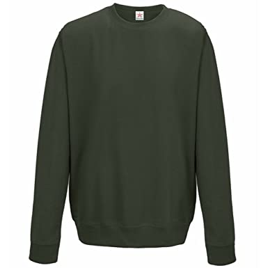 93cdcc0f Plain Olive Green Sweatshirts, crew neck sweatshirt Small (ALL Sizes) plus  1 T