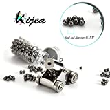 Kijea Mini Naval Cannon,Black Powder Pocket Firing Cannon Stainless Steel Tiny Artillery Military Model Kits Miniature Metal Scale Replicas with Pellets and Ramrod for Present,Collection Decoration