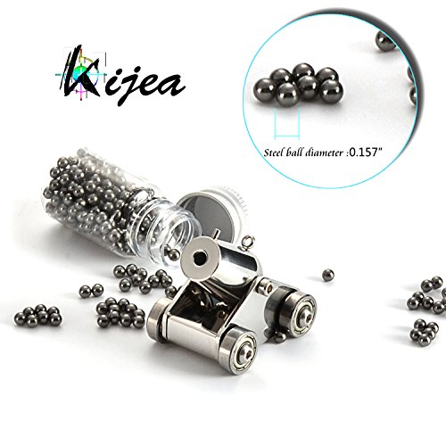 Kijea Mini Naval Cannon,Black Powder Pocket Firing Cannon Stainless Steel Tiny Artillery Military Model Kits Miniature Metal Scale Replicas with...