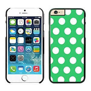 iPhone Cases,6 iphone case colors,cool iphone cases from Speck, cute iphone cases, Polka Dot Green and White Iphone 6 Plus(5.5-inch) Cases Black Cover