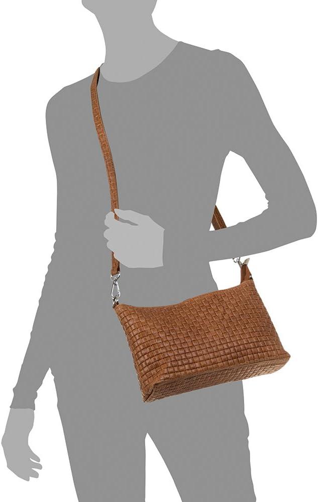 Farbe Vera Pelle Italiana 40x27x15 cm DUNKELBLAU FIRENZE ARTEGIANI Echtes Leder Handtasche geometrische Gravur lackiert Frau Handtasche.Frauen Made in Italy
