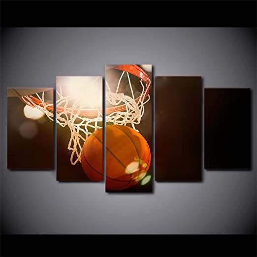 RuYun Canvas HD Impreso Paisaje Poster 5 Piezas Modern Baloncesto ...