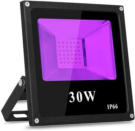 TOPLANET 30W Leds Luz Negra, Proyector UV LED Negro, Lámparas ...