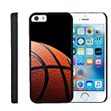 Apple iPhone SE Case | iPhone 5/5s Case [Slim Duo] Compact Fit Hard Clip On Case Slim Cover on Black Sports and Games by TurtleArmor - Basketball Seams