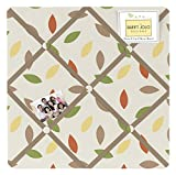 Sweet Jojo Designs Leaf Print Fabric Memory/Memo Photo Bulletin Board for Forest Friends Collection