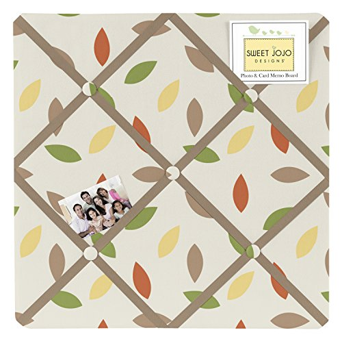 Sweet JoJo Designs Leaf Print Fabric Memory/Memo Photo Bulletin Board for Forest Friends Collection by Sweet Jojo Designs