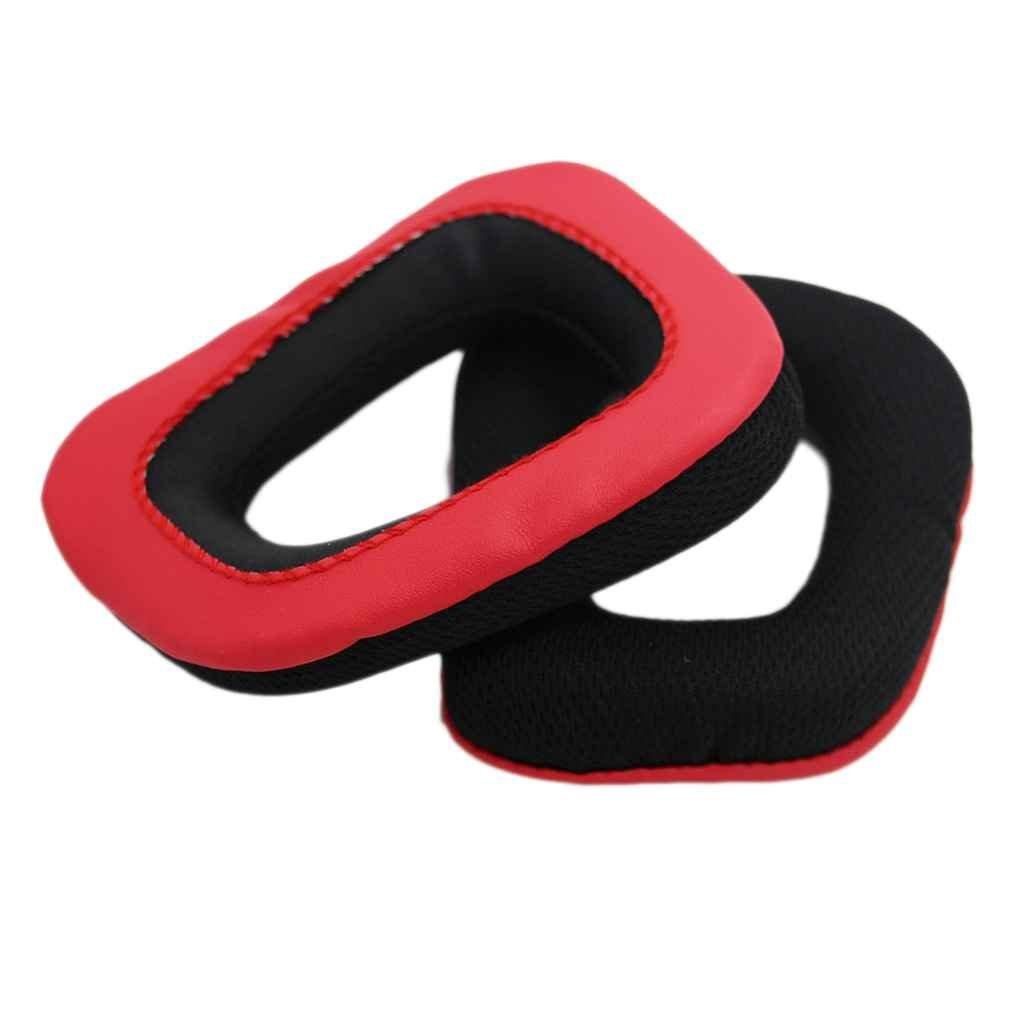 Bobury Ear Pads copertura traspirante griglia panno sostituzione Earcaps cuffia cuscinetti auricolari per Logitech G35 G930 G430 F450